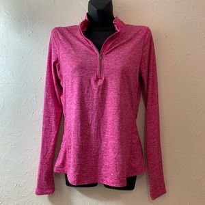NIKE PRO LONGSLEEVE PINK S TOP HEATHERED THUMBHOLE